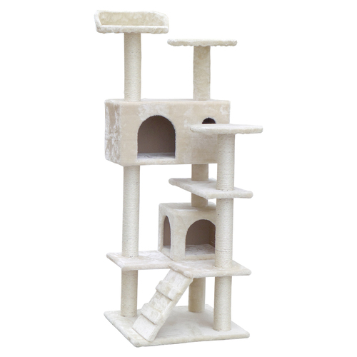 Cat Scratching Post  Tree House Condo 134cm Beige