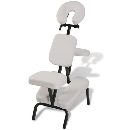 White Foldable & Portable Massage Chair