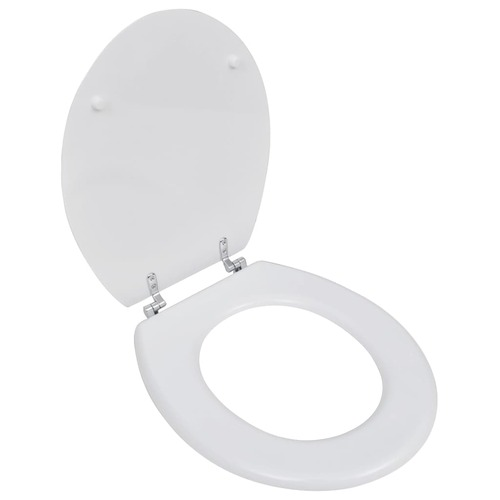 WC Toilet Seat MDF Lid Simple Design White