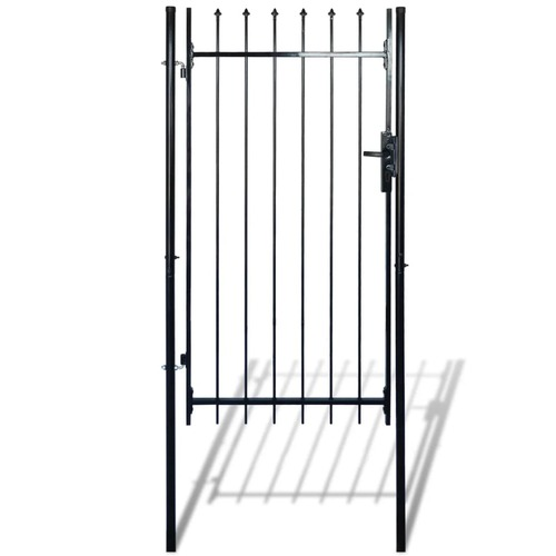 Fence Gate with Spear Top 100 x 150 cm