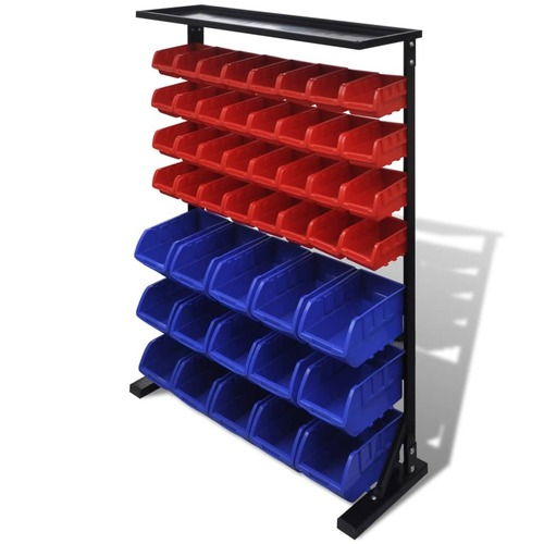 Garage Tool Organiser Blue and Red