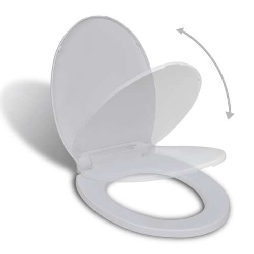 Soft-close Toilet Seat White Oval