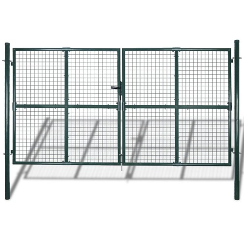 Fence Gate Powder-Coated Steel 306 x 200 cm