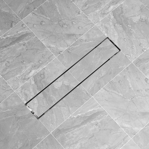 Linear Shower Drain 630x140 mm Stainless Steel