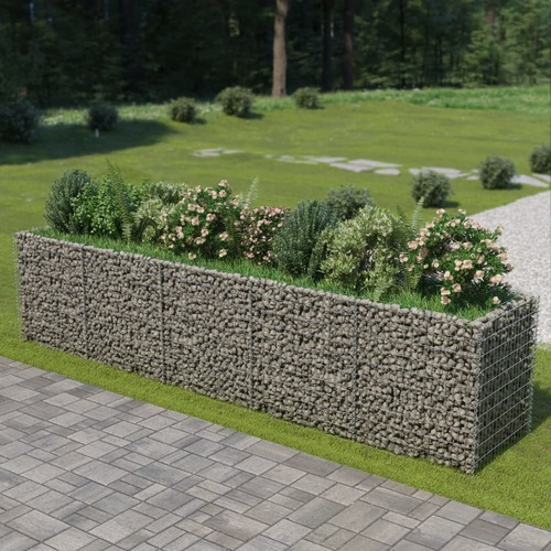 Gabion Raised Bed Galvanised Steel 450x90x100 cm