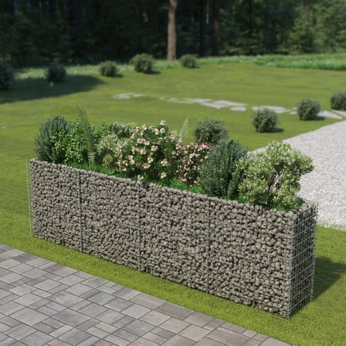 Gabion Raised Bed Galvanised Steel 360x50x100 cm