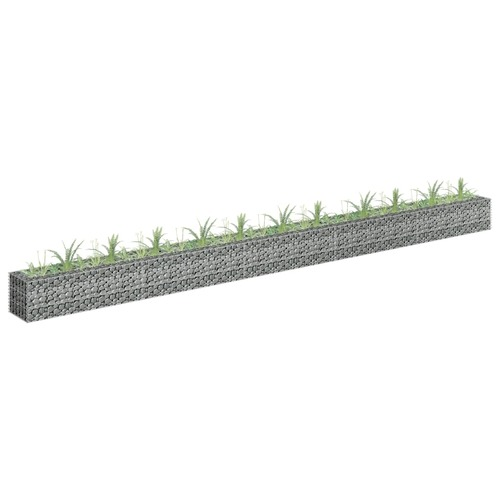 Gabion Raised Bed Galvanised Steel 450x30x30 cm