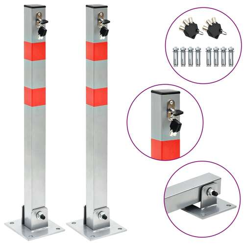 Parking Posts with Locks 2 pcs
