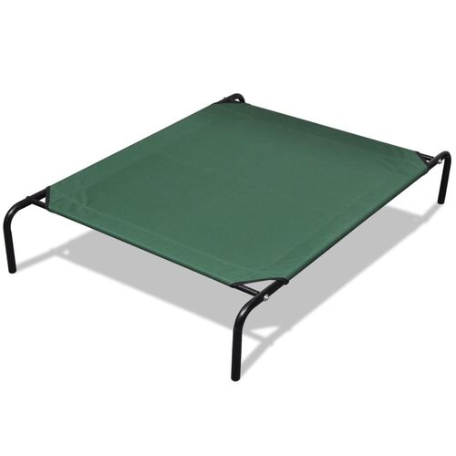 Elevated Pet Bed with Steel Frame 130 x 80 cm