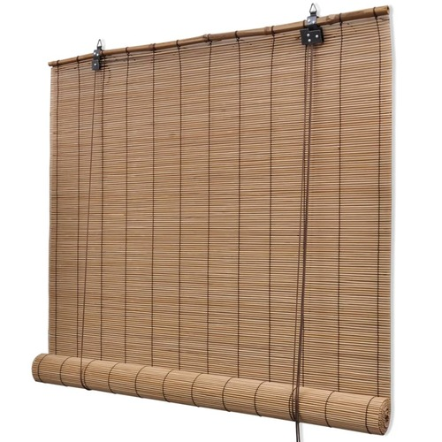 Brown Bamboo Roller Blinds 120 x 160 cm