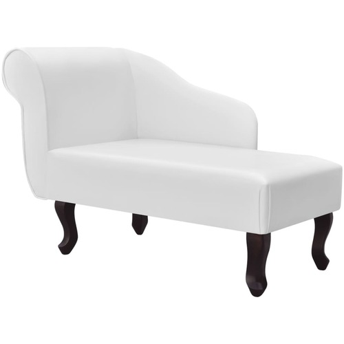 Chaise Longue White Faux Leather