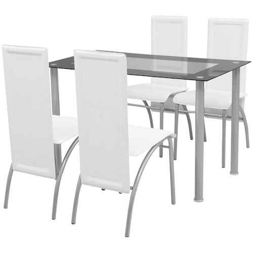 Five Piece Dining Set White