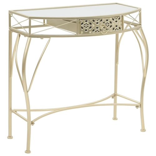 Side Table French Style Metal 82x39x76 cm Gold
