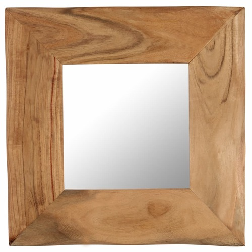 Cosmetic Mirror 50x50 cm Solid Acacia Wood