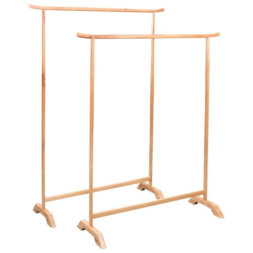 Clothes Racks 2 pcs Solid Oak Wood