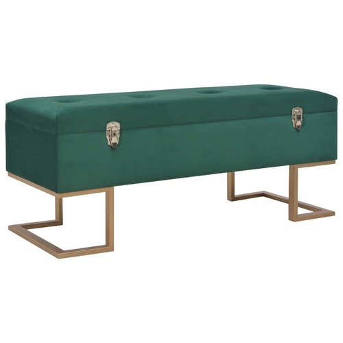 Bench with Storage Compartment 105 cm Green Velvet