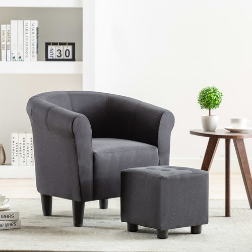 Armchair Black Fabric