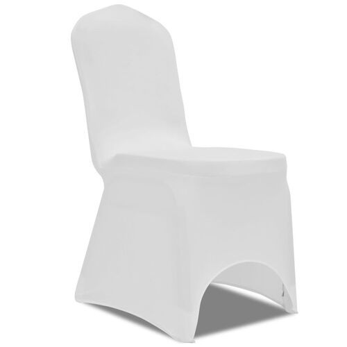 100 pcs Stretch Chair Covers White