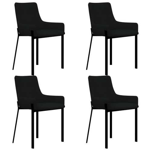 Dining Chairs 4 pcs Black Fabric