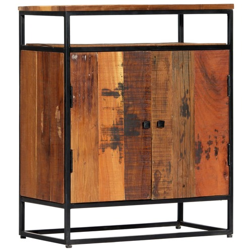 Side Cabinet 60x35x76 cm Solid Reclaimed Wood and Steel