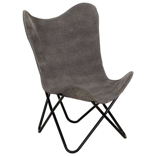 Butterfly Chair Anthracite Canvas