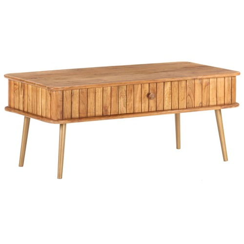 Coffee Table 100x50x40 cm Solid Acacia Wood