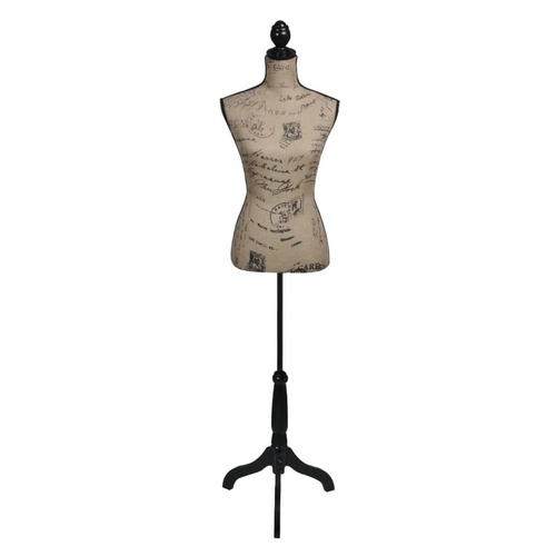 Ladies Bust Display Bust Brown Black Jute Female Mannequin Display