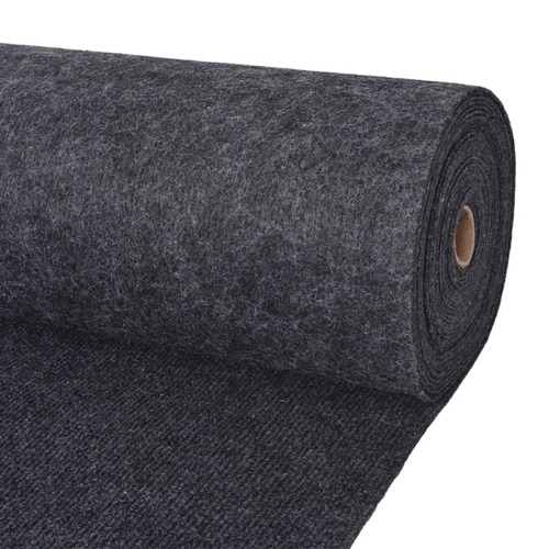 Exhibition Carpet Rib 2x10 m Anthracite