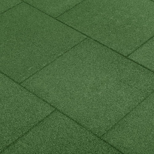 Fall Protection Tiles 24 pcs Rubber 50x50x3 cm Green