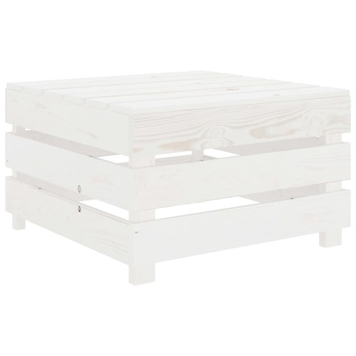 Garden Pallet Table White Wood