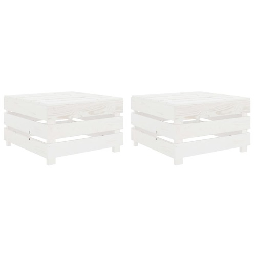 Garden Pallet Tables 2 pcs White Wood