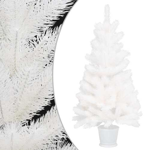 Artificial Christmas Tree Lifelike Needles White 65 cm