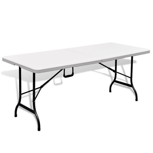 Folding Garden Table White 180x75x74 cm HDPE