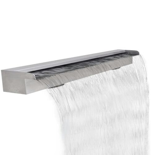 Rectangular Waterfall Pool Fountain Stainless Steel 120 cm