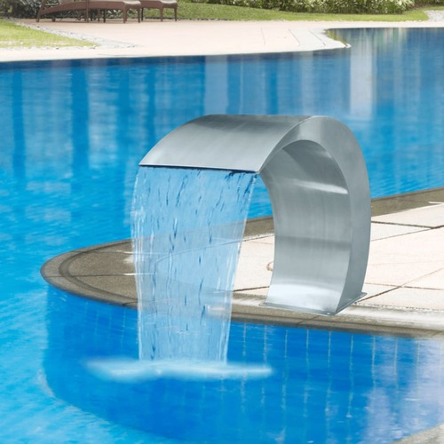 Garden Waterfall Pool Fountain Stainless Steel 45x30x60 cm