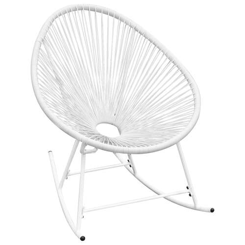Outdoor Rocking Chair White Poly Rattan