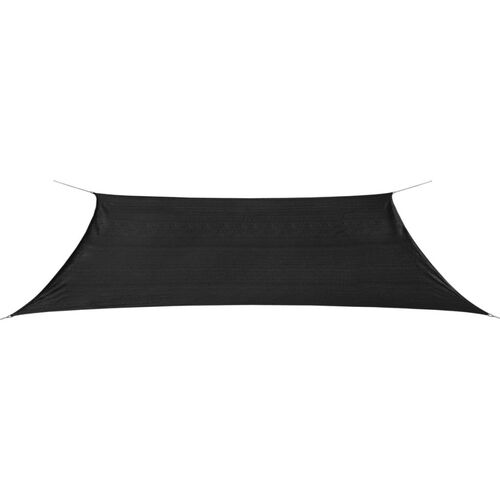 Sunshade Sail HDPE Rectangular 4x6 m Anthracite
