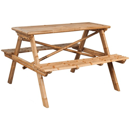 Picnic Table 120x120x78 cm Bamboo