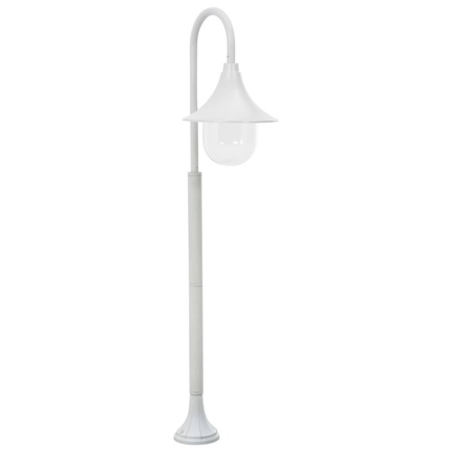Garden Post Light E27 120 cm Aluminium White
