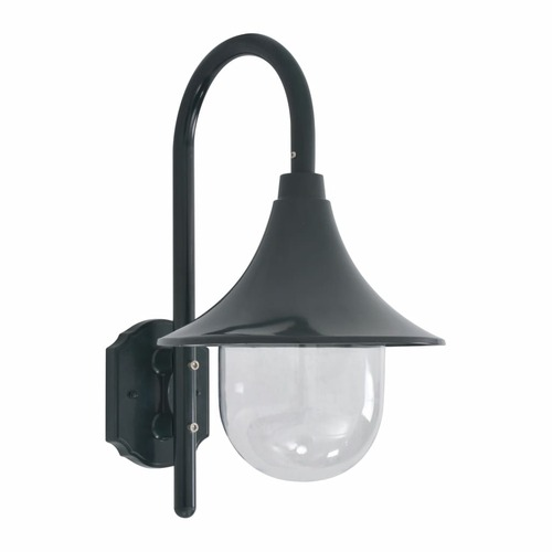 Garden Wall Lamp E27 42 cm Aluminium Dark Green