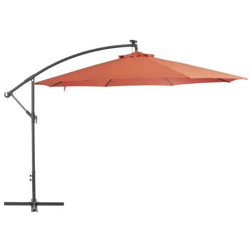 Cantilever Umbrella with Aluminium Pole 350 cm Terracotta