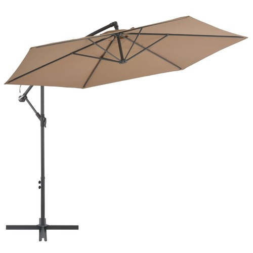 Cantilever Umbrella with Aluminium Pole 300 cm Taupe