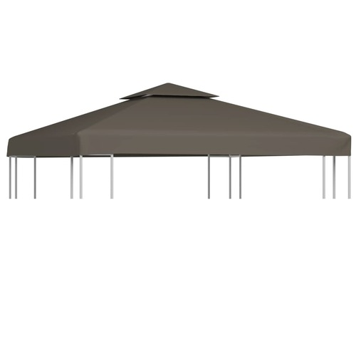 2-Tier Gazebo Top Cover 310 g/m² 3x3 m Taupe