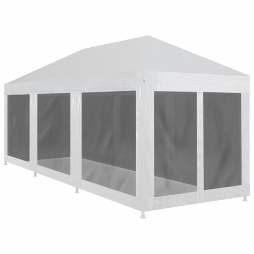 Party Tent with 8 Mesh Sidewalls 9x3 m