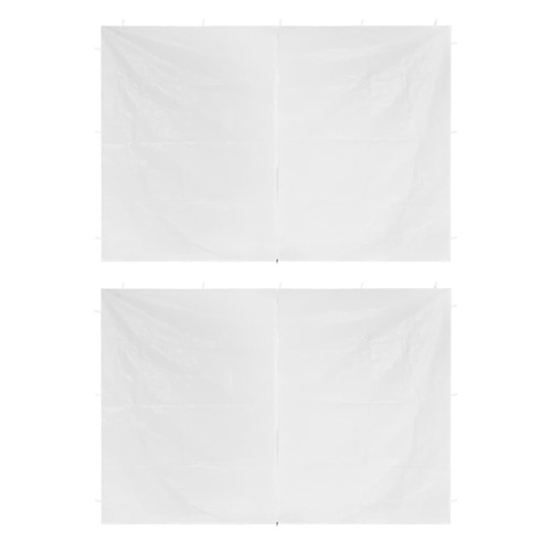 Party Tent Doors 2 pcs with Zipper White