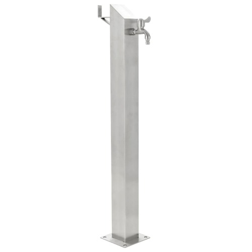 Garden Water Column Stainless Steel Square 95 cm