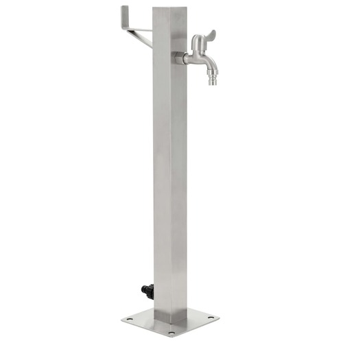 Garden Water Column Stainless Steel Square 65 cm