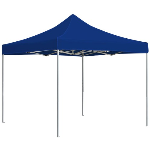 Professional Folding Party Tent Aluminium 3x3 m Blue