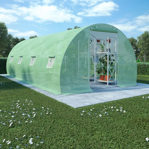 Greenhouse with Steel Foundation 18m² 600x300x200 cm