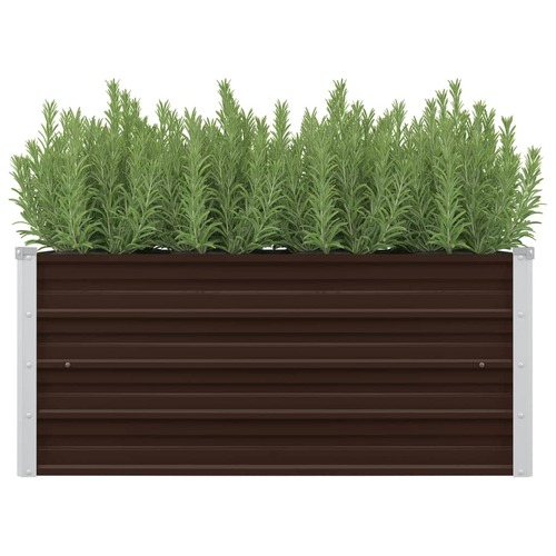 45720 Garden Raised Bed Brown 100x40x45 cm Galvanised Steel